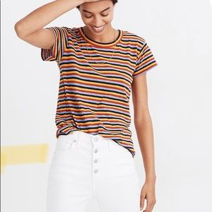 The Perfect Vintage Tee in Stockport Stripe